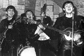 The early leather clad Beatles, at the Caver.