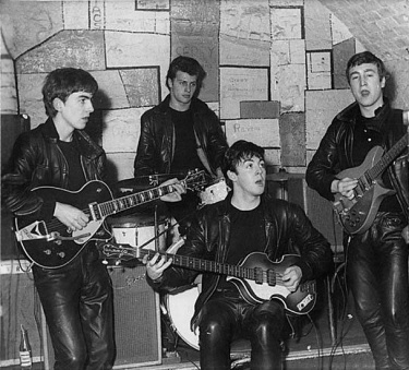 The Cavern, how young does George look? Pre Brian Epstein days.