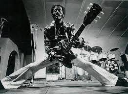 A typical Chuck pose, with his beloved 335 guitar.