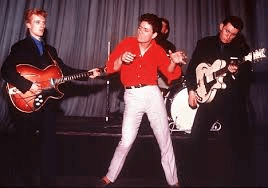 Cliff Richard with his Shadows