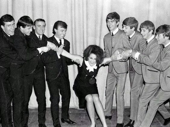 Gerry and band, Cilla Black and The Beatles.