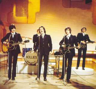The Hollies on English television, 1975.