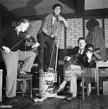 Forerunner of the Beat Era, a skiffle group at a Liverpool venue.